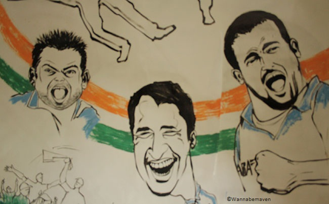 Yusuf Pathan & Virat Kohli Caricatures - sahara cricket gaurav point