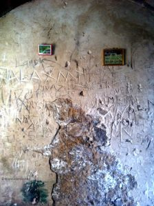 damaged walls inside sewri fort - Forts in Mumbai