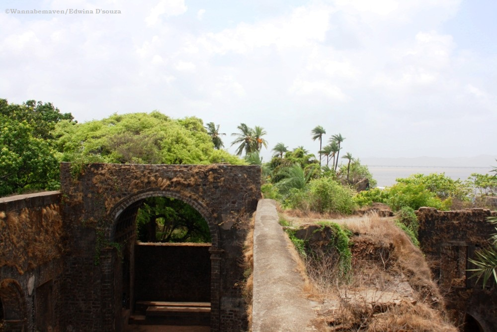 Bassein Fort fort overlooking the sea