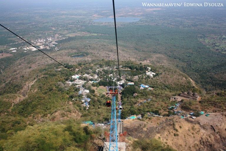 road trip to mumbai - Ropeway to Kalika mata temple in Pavagad