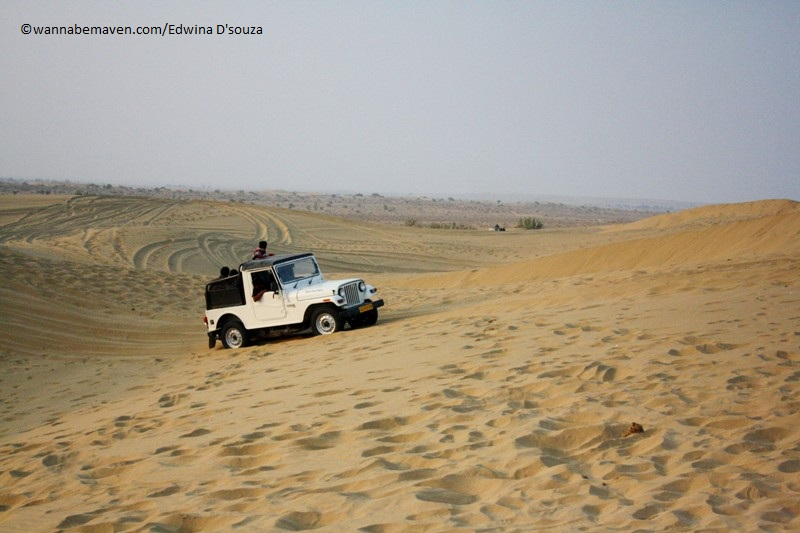 Dune bashing in Thar desert - Prince Desert camp - best desert camp in jaisalmer