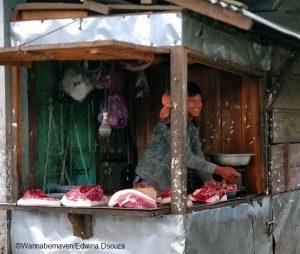meghalaya travel tips - things to know - pork shop